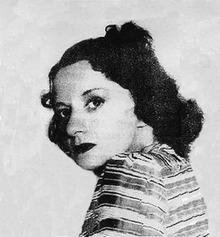 Black and white photo of Margaret Brundage