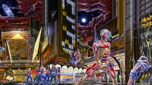 Iron Maiden Somewhere in Time album cover by Derek Riggs