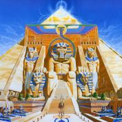 Iron Maiden Powerslave Album cover by Derek Riggs