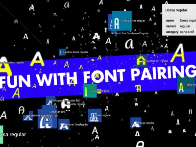 Pair fonts with . . .