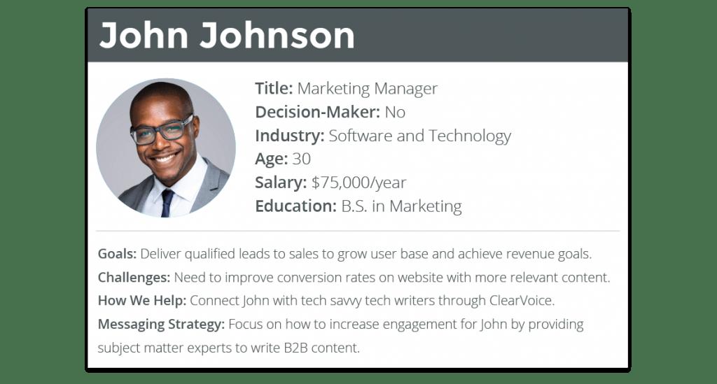 Customer Personas B2C John Johnson