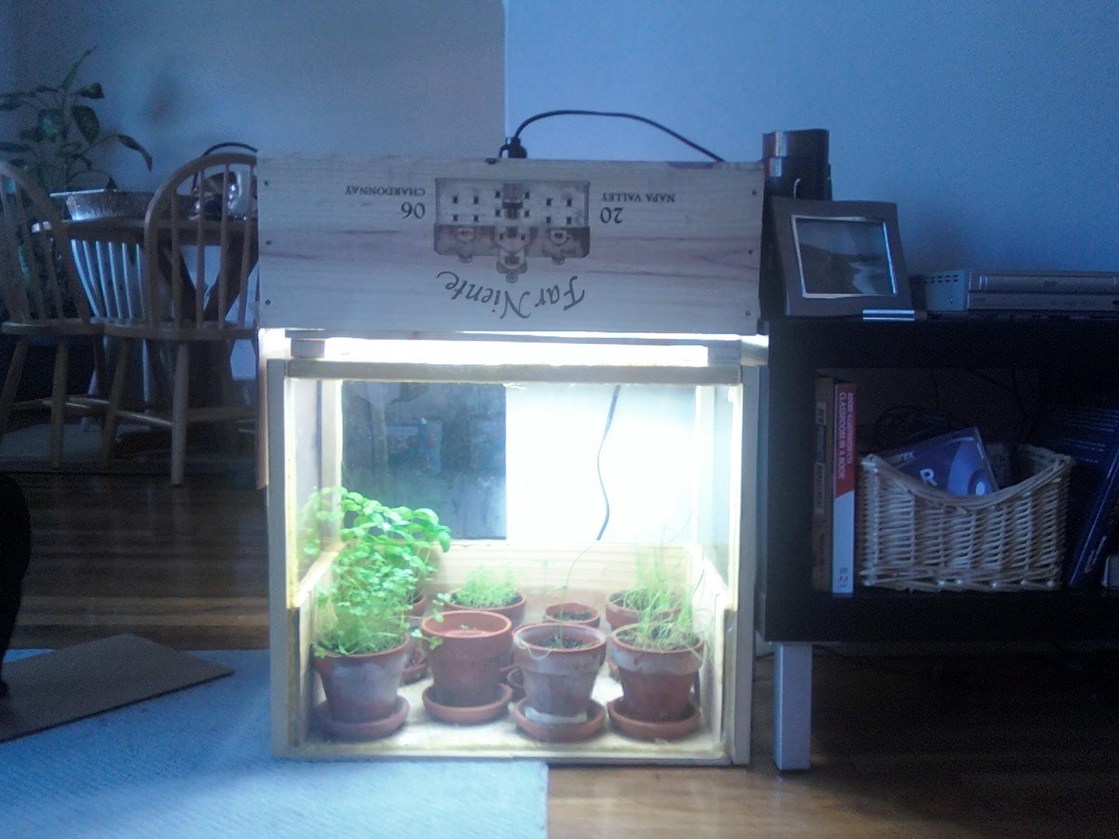DIY Indoor Herb Garden, Part 1: The Greenhouse