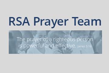 prayer page Prayer Team button