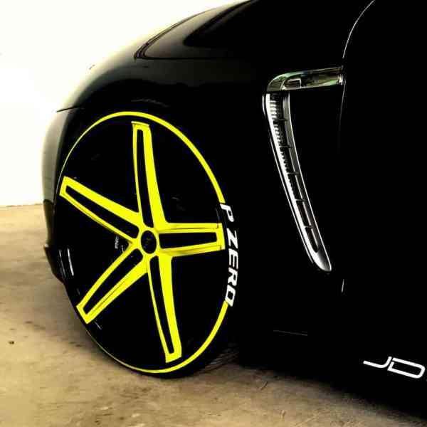 Reifenstripes-gelb