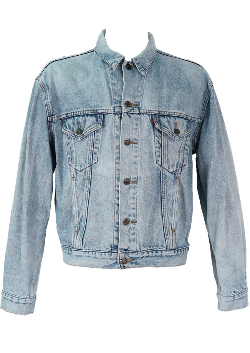 levis light blue denim jacket – lxl – reign vintage