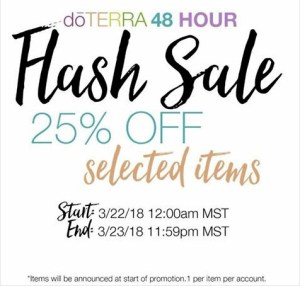 doterra flash sale