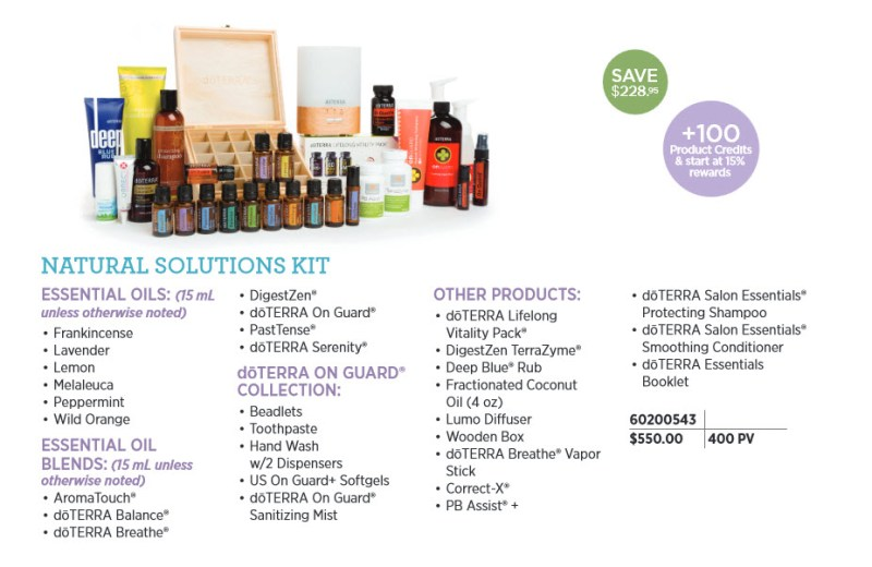 doterra natural solutions kit