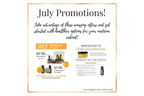 doterra july 2018 promotions