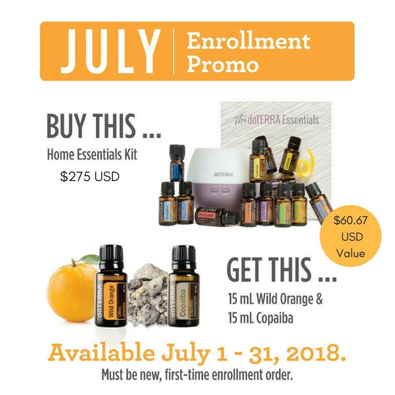 doterra july home essentials promo