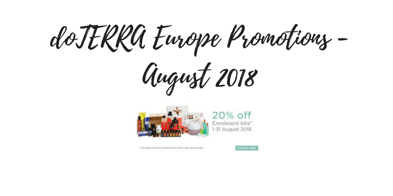 doTERRA August 2018 Promotions – Europe