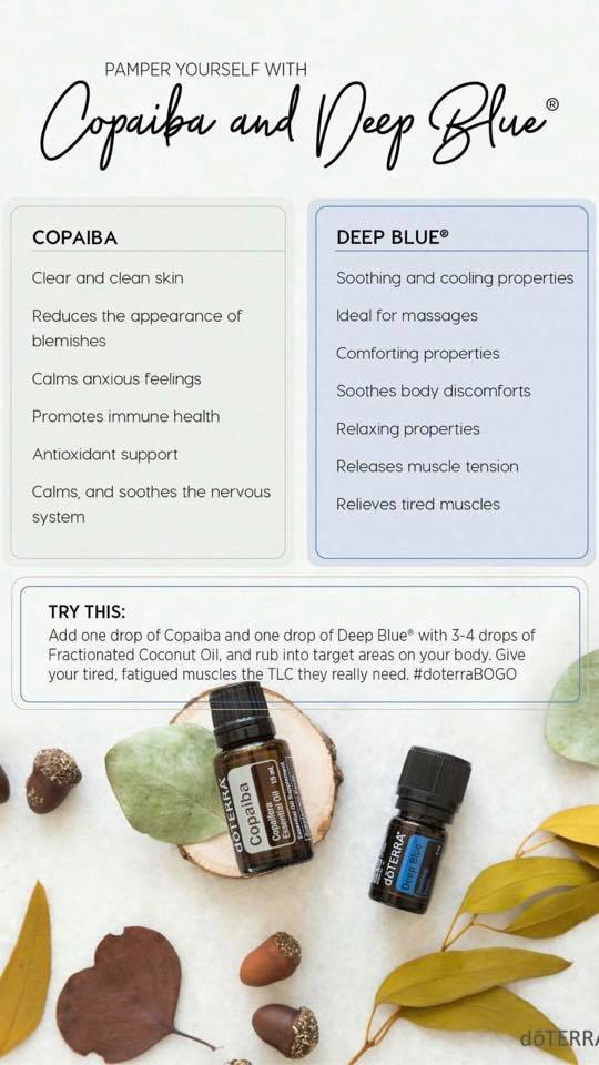 copaiba and deep blue uses