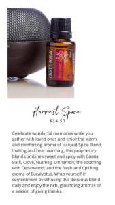 harvest spice doterra essential oil blend