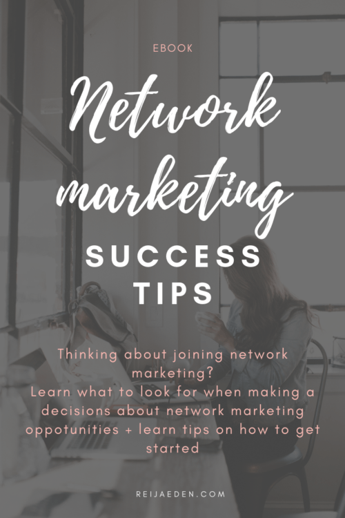 network marketing success tips ebook