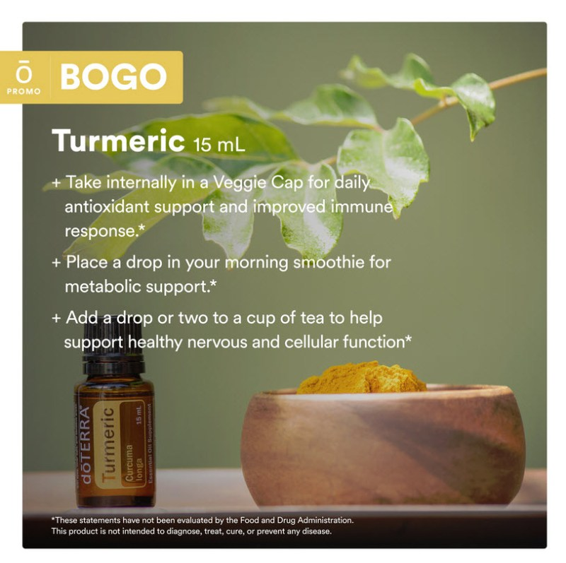 how to use doterra turmeric essential oil