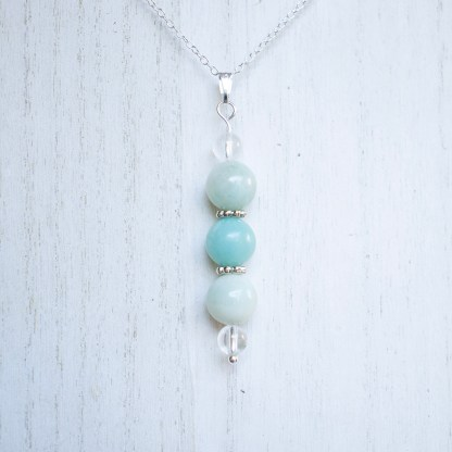 reiki charged amazonite bead