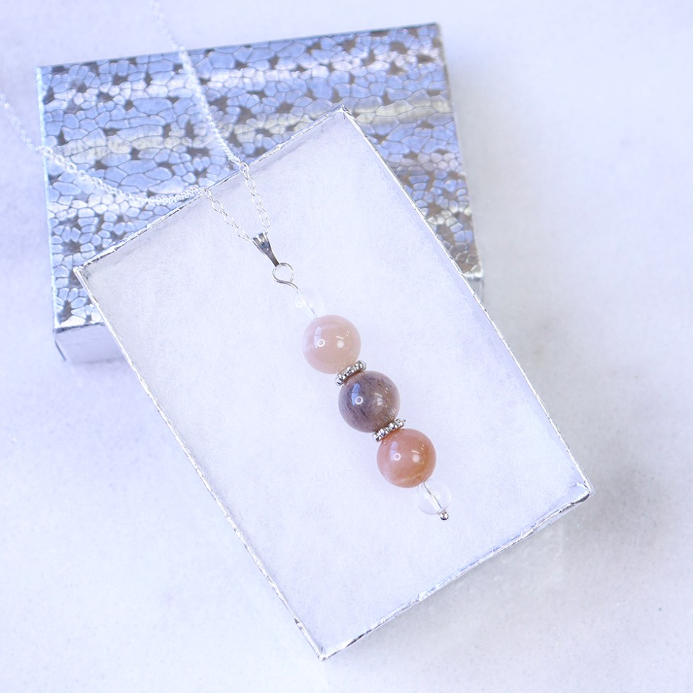 reiki charged moonstone bead