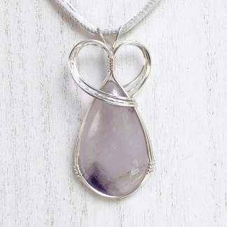 reiki charged chevron amethyst pendant