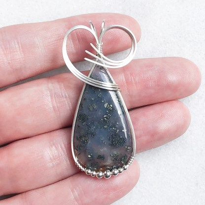 reiki charged marcasite pendant