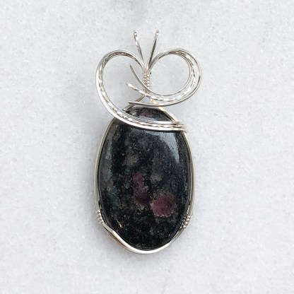 reiki charged ruby fall pendant