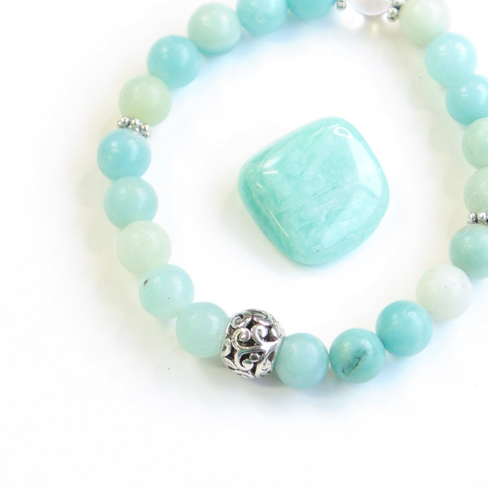 reiki charged amazonite bracelet