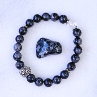 reiki charged mystic merlinite bracelet
