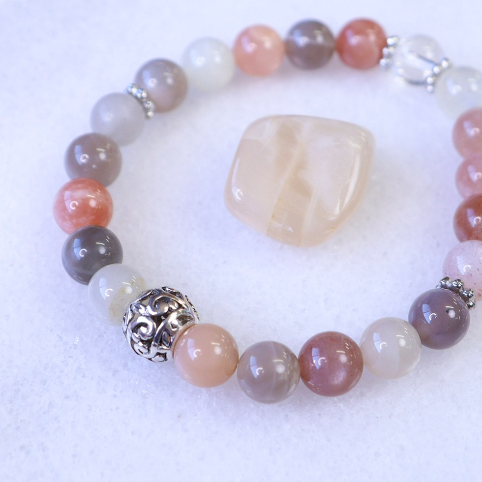 reiki charged moonstone bracelet