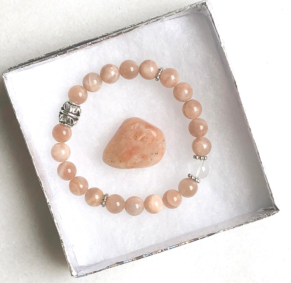 reiki charged sunstone bracelet