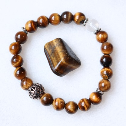 reiki charged tigers eye bracelet