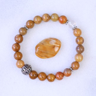 reiki charged yellow jasper bracelet