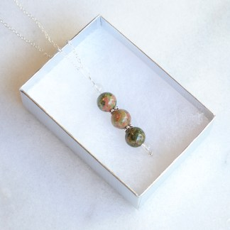 reiki charged unakite bead
