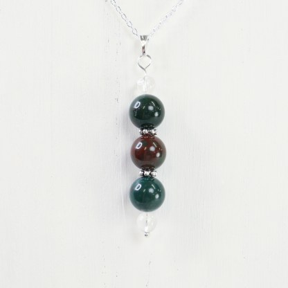 reiki charged bloodstone bead
