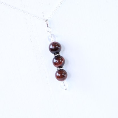 red tigers eye bead