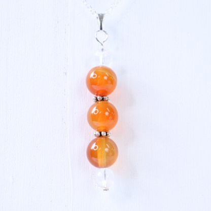 reiki charged carnelian bead