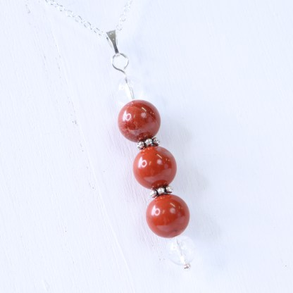 reiki charged red jasper bead