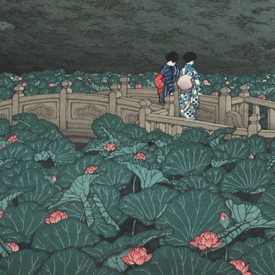 Benten Pond at Shiba by Kawase Hasui (1929 - detail)