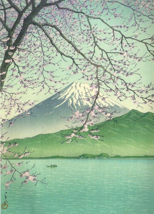 """""""Nishi Izu, Kisho no Fuji,"""" 1937 By Kawase Hasui (1883-1957)"""