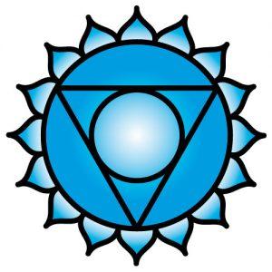 El símbolo de Chakra de la garganta