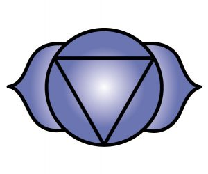 El símbolo de Chakra de la frente (tercer ojo)