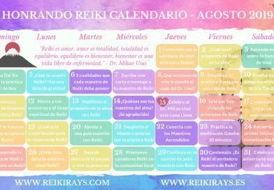 Honrando Reiki Calendario Agosto 2019