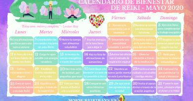 Calendario de Bienestar de Reiki - Mayo 2020