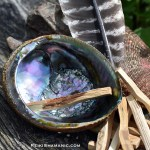 Palo Santo Wood Smudge Kit With Large Abalone Shell And Feather