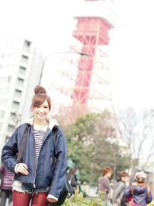 Me with Tokyo Tower / Spring 2015