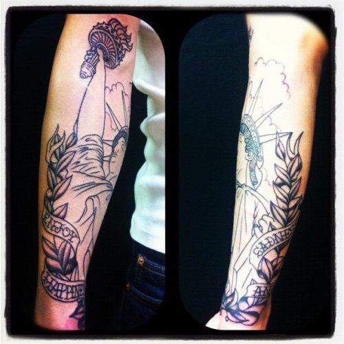 自由の女神,タトゥー,tattoo