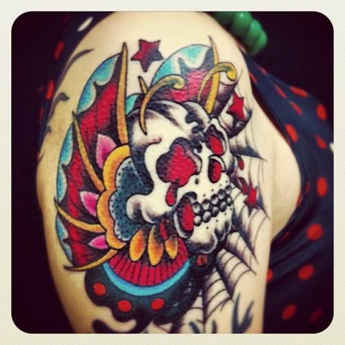 butterfly,ちょう,ドクロ,skull,tattoo