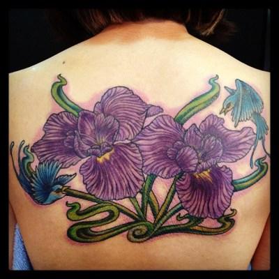 #iris #花菖蒲 #tattoo #タトゥー
