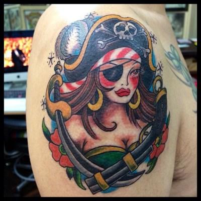 #femalepirate #pirate #パイレーツガール #女海賊 #tattoo #タトゥー