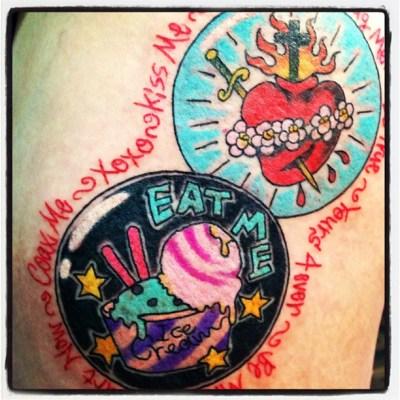 #cupicecream #sacredheart #アイスクリーム #ハート #badge #tattoo #タトゥー