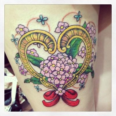#DaphneOdora #bouquet #ribbon #tattoo #reikotattoo #ジンチョウゲ #ブーケ #リボン #タトゥー
