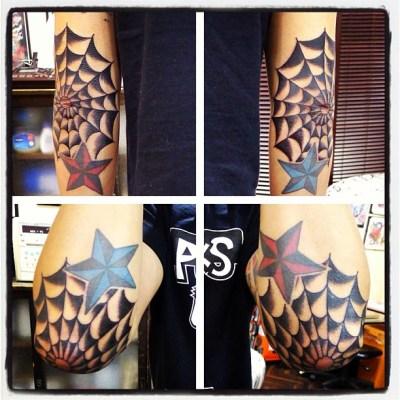 #elbow #spider #web #tattoo #reikotattoo #肘にスパイダーウェブ #蜘蛛の巣 #タトゥー