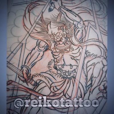 #sketch #Laijin #irezumi #tattoo #design #雷神 #タトゥー #デザイン